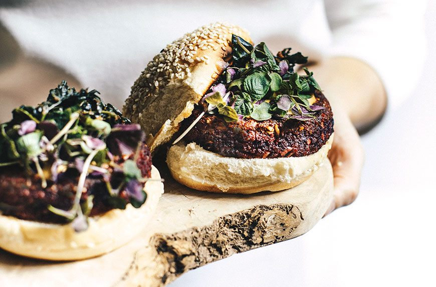 Thumbnail for These mushroom-beet-quinoa veggie burgers are the healthy hit your next cookout needs