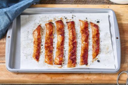 Bacon lovers: You can make a crispy vegan version out of—wait for it—rice paper