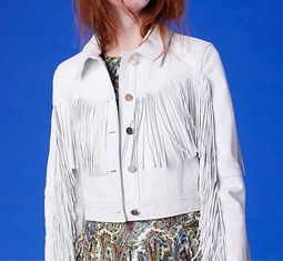 DVF long sleeve fitted fringe jacket - Is vogue's newest obsession with cowboys simply channeling the Wild West power of as we speak's cultural local weather?