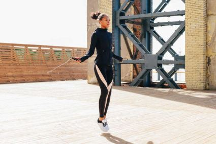 Add glutes to jump rope workout muscles with this move