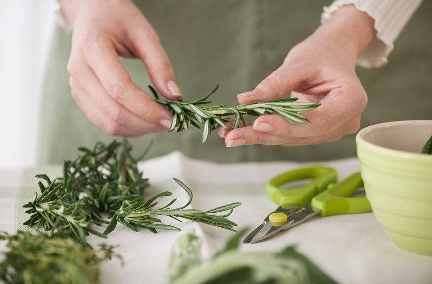 You can make this 2-ingredient rosemary oil right in your crockpot