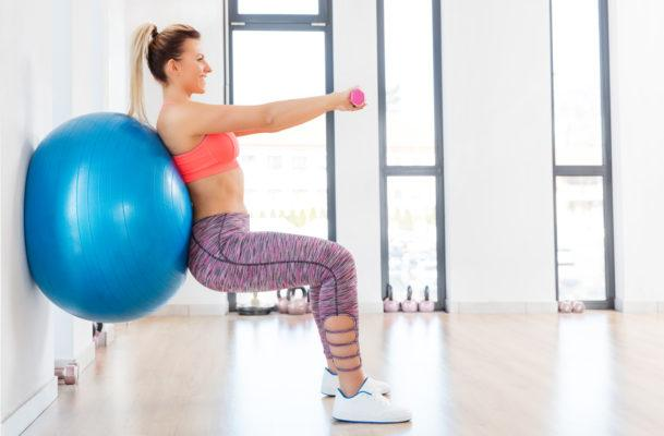 Perfect your squat form like Simone De La Rue using this OG piece of gym equipment
