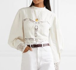 Isabel Marantlace trimmed linen blouse - Is vogue's newest obsession with cowboys simply channeling the Wild West power of as we speak's cultural local weather?