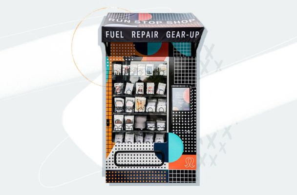 Newsflash: Lululemon just launched free vending machines with *all* of your running needs