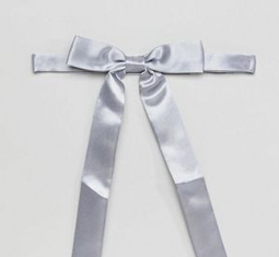 asos design satin western bow tie in light blue - Is vogue's newest obsession with cowboys simply channeling the Wild West power of as we speak's cultural local weather?