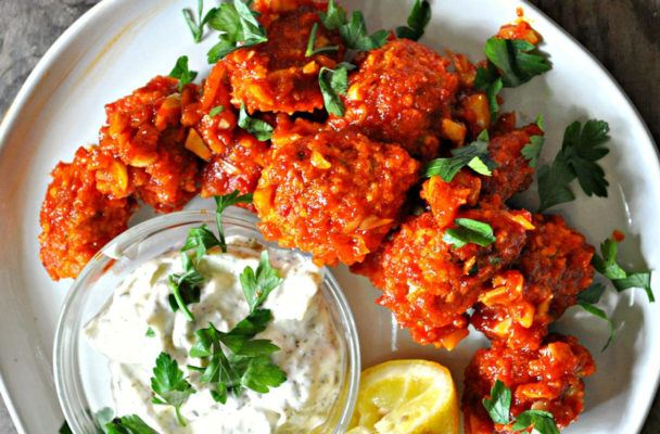 Sorry, cauliflower: Brussels sprouts are the star in these vegan Buffalo wings