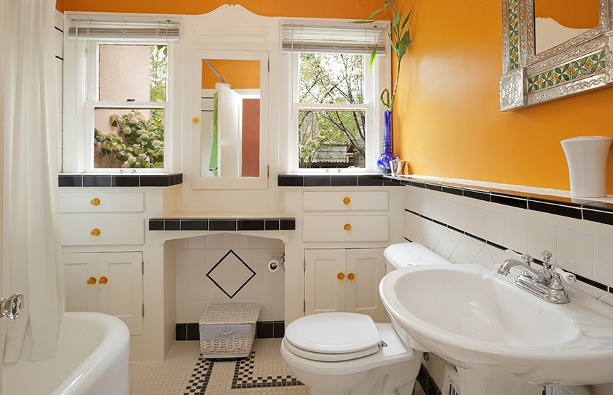How To Turn Your Tiny Bathroom Into A Self Care Sanctuary