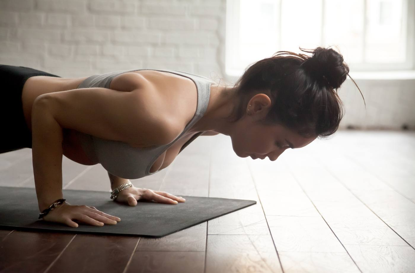 Thumbnail for Can't Do a Yoga Push-up? Try This Chaturanga Modification Instead