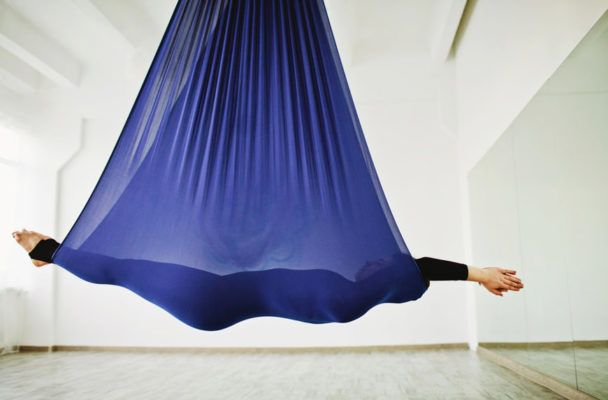 I tried anti-gravity yoga to fulfill my Cirque du Soleil dreams—here's what happened