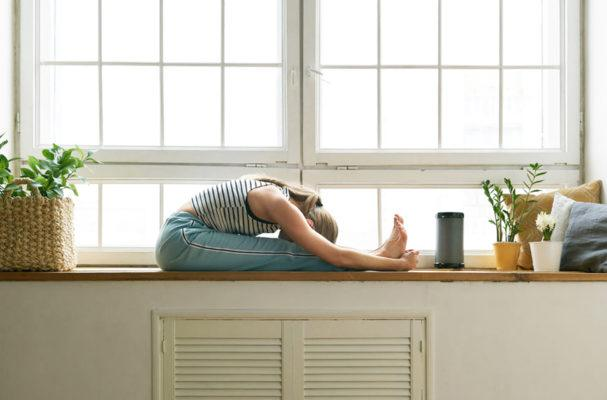 2 yoga moves you can do at your desk to ease neck and back tightness