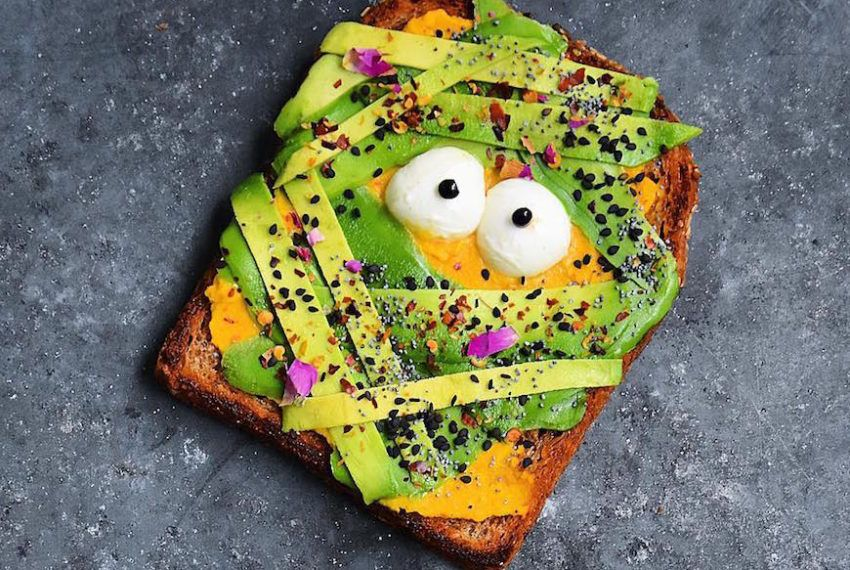 Here's how to give your avocado toast a Halloween makeover