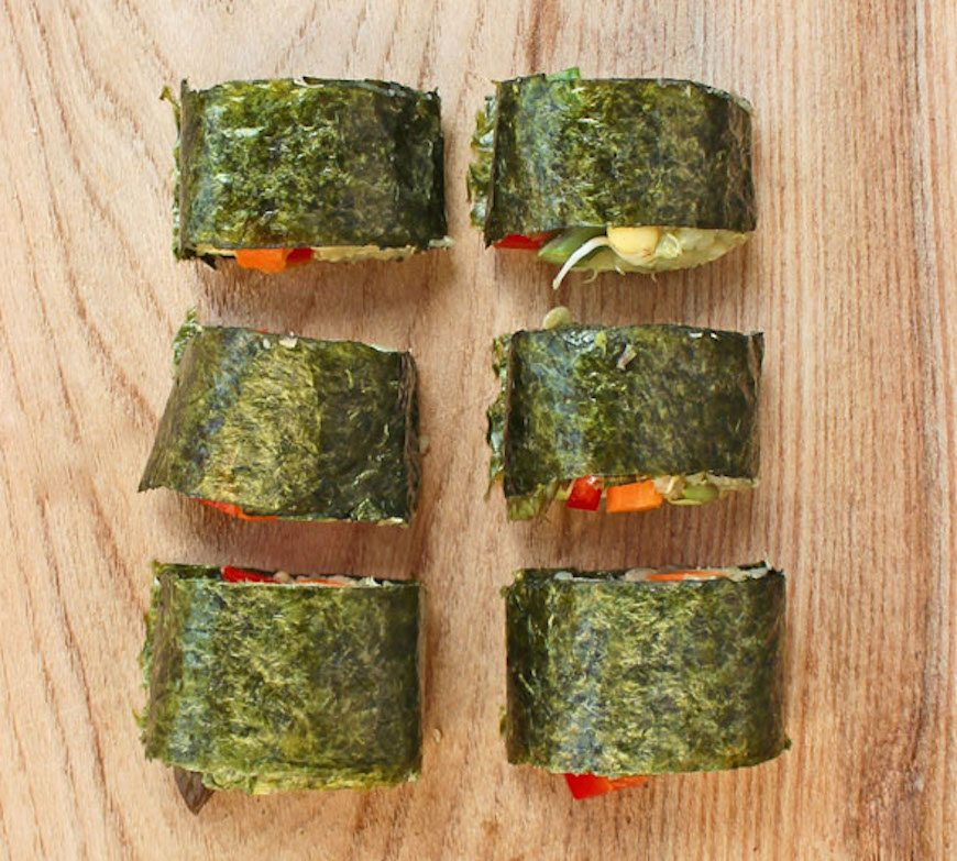 Deliciously Ella vegan sushi