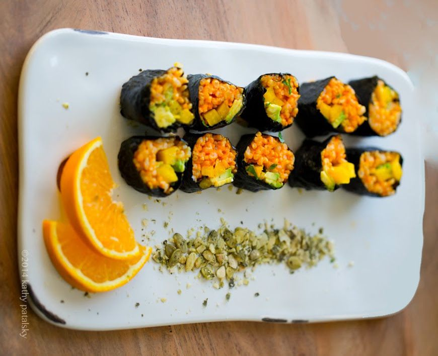 healthy happy life vegan sushi