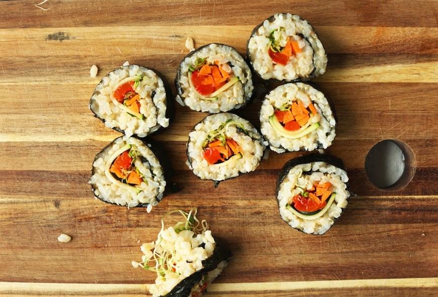 Minimalist Baker vegan sushi
