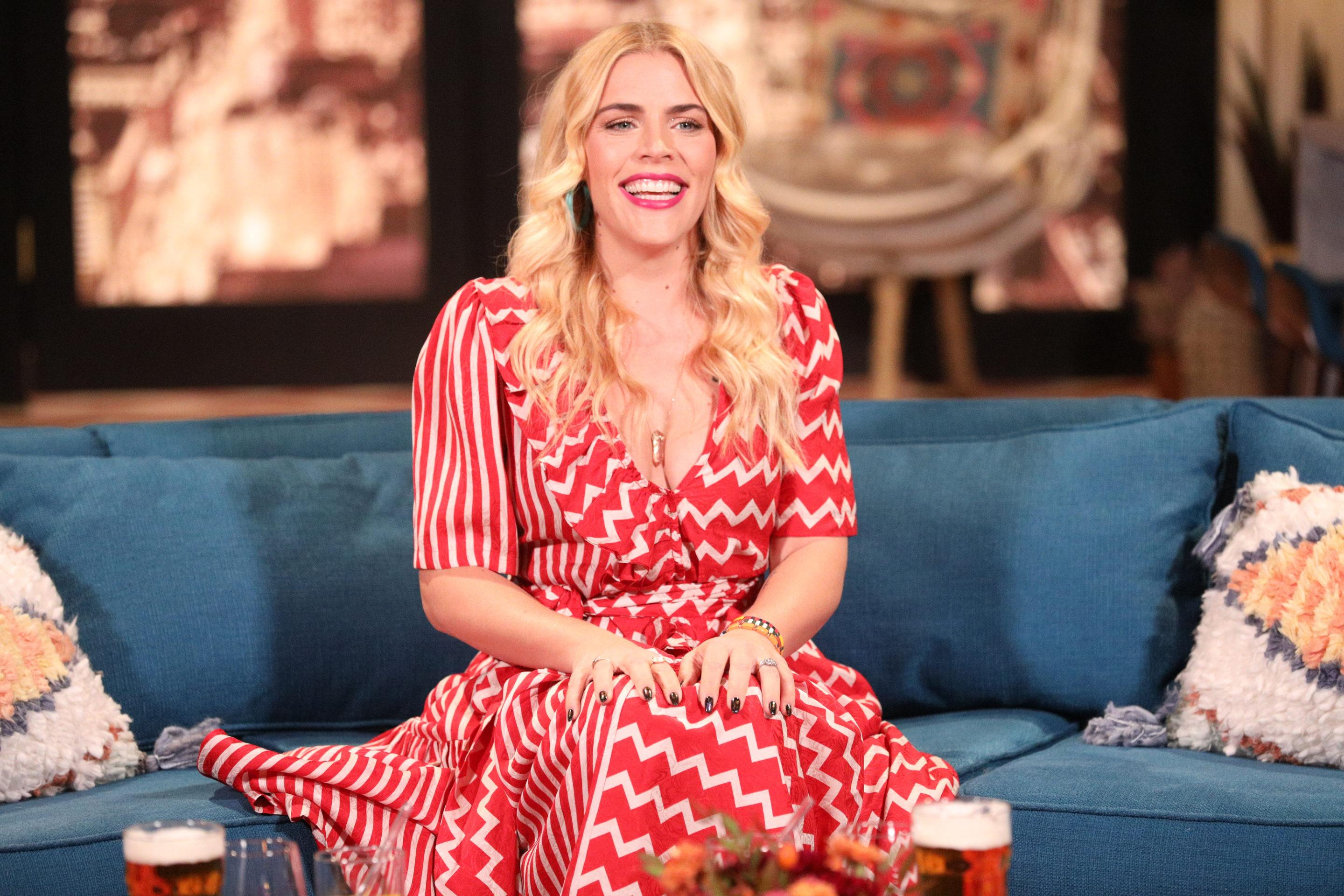 Thumbnail for Busy Philipps' trick for making any floor workout more intense? Try it on a trampoline