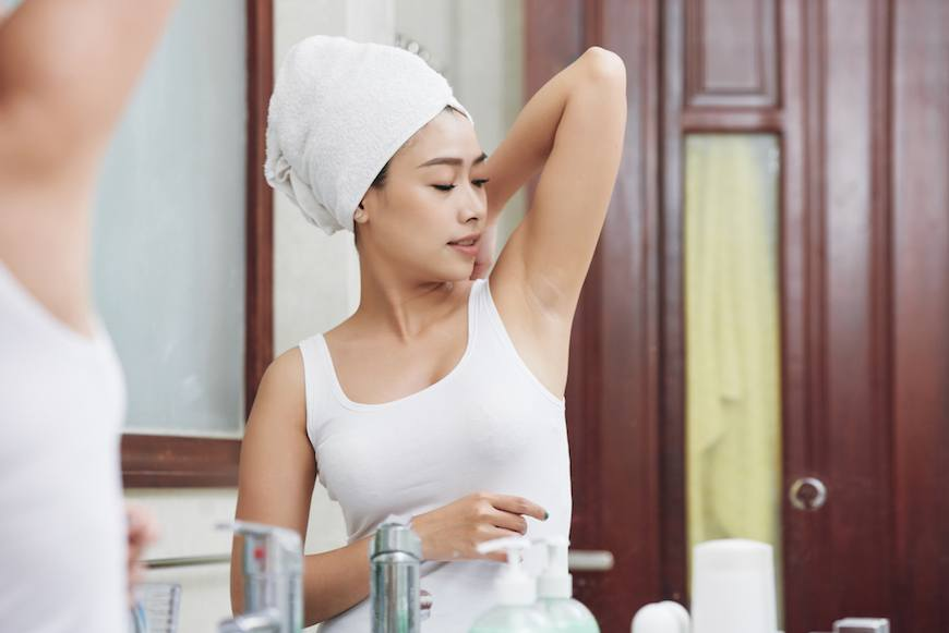 Thumbnail for This Derm-Approved Trick Lets You Try Natural Deodorant *Without* Soaked Underarms