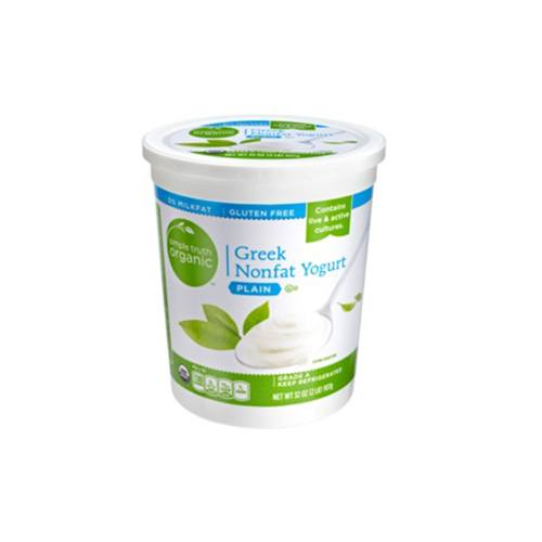 Simple Truth Organic Strained Plain Greek Nonfat Yogurt