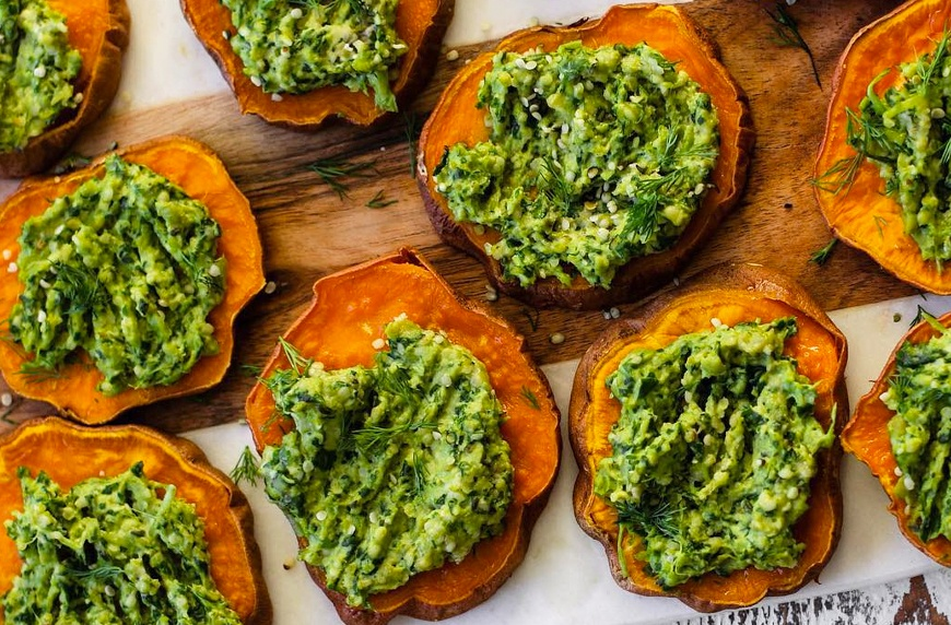Thumbnail for Sweet potato pesto poppers are the ultimate healthy game-day app