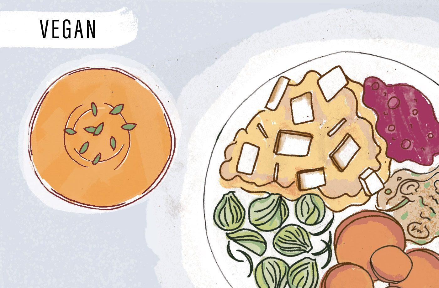 vegan Thanksgiving meal