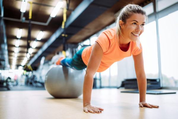 The guaranteed way to make an exercise more challenging? Do it on a stability ball