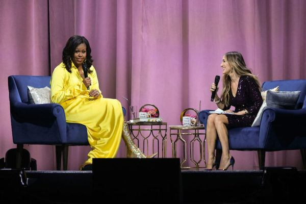 Michelle Obama's Sparkly Boots Can't Outshine the Wisdom She Delivered in NYC