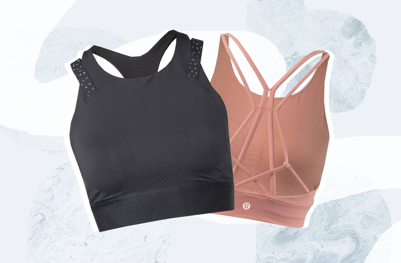 Thumbnail for The best high-cut sports bras for spinning class to keep you supported