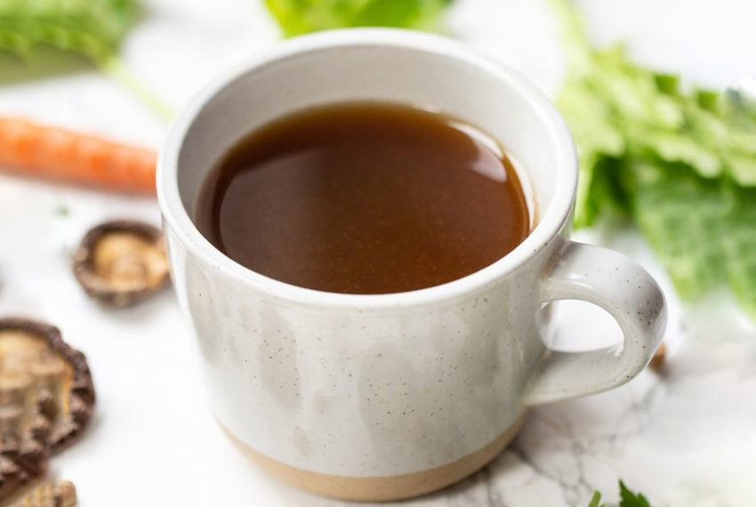 Feeling run down? Whip up this vegan bone broth in your Instant Pot