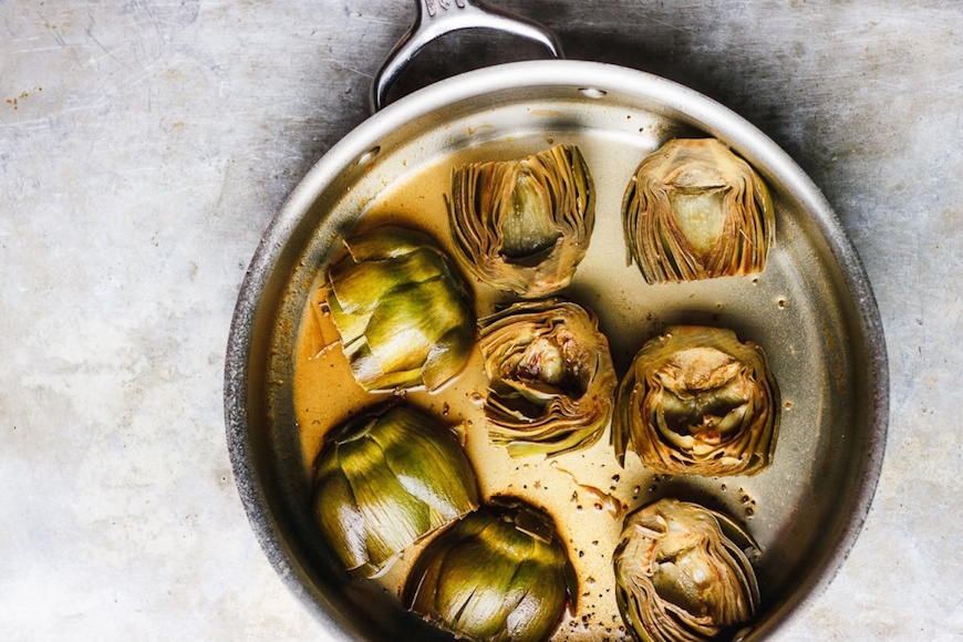 winter dinner recipes artichokes