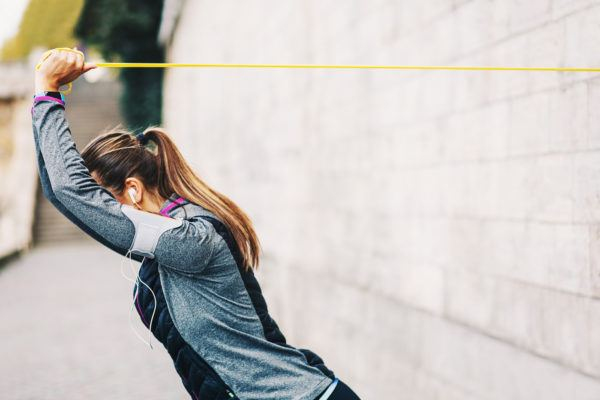 Knock out this 5-move, full-body resistance band workout in 5-minutes flat