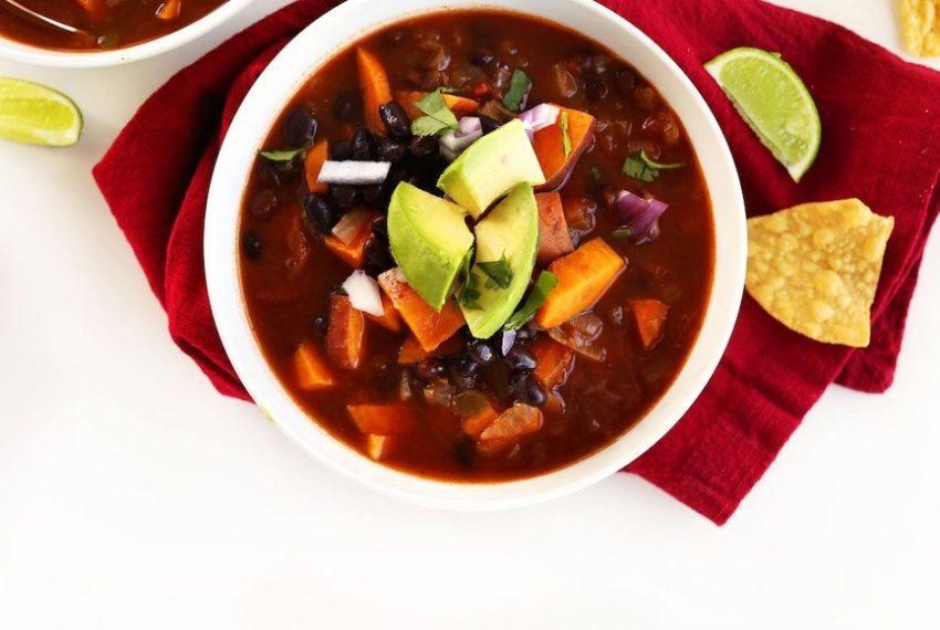 You can use Trader Joe's Chunky Salsa (yes, salsa) to make the easiest vegan soup ever
