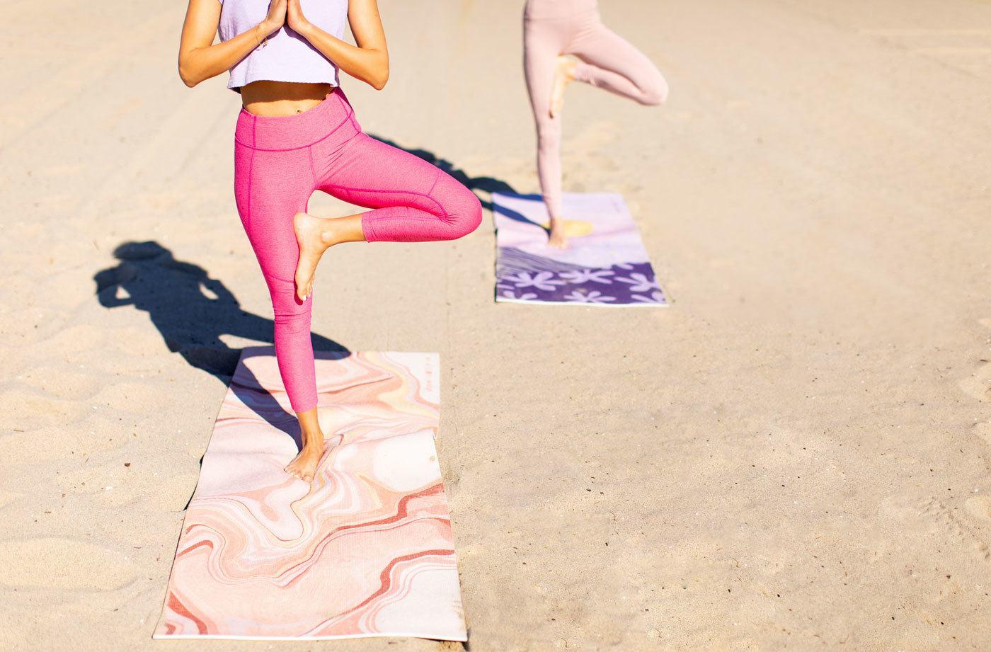 910b1cfa9cc86 Raise your vibe with this rose quartz-inspired yoga mat | Well+Good |  Bloglovin'