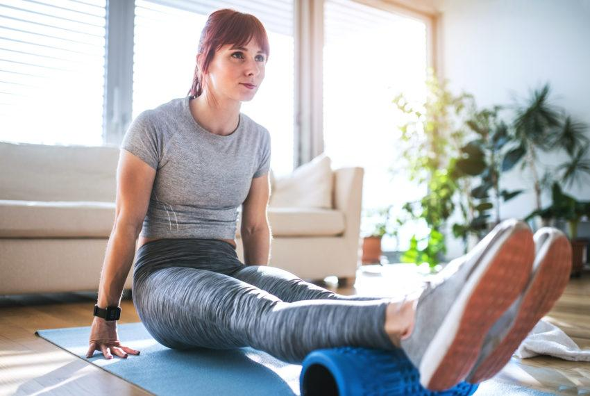 Foam rolling's secret perk? Doing it *before* a workout makes your...