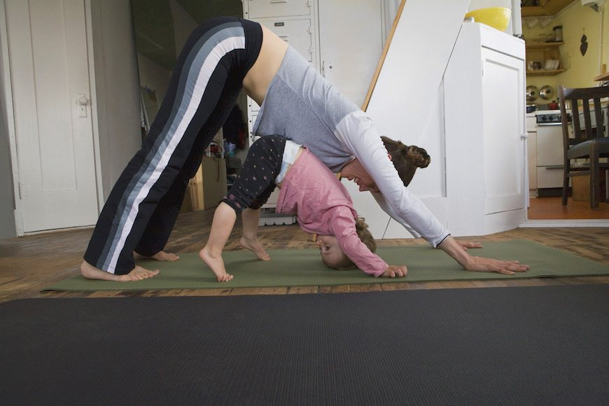 Thumbnail for Are toddlers doing downward dog pregnancy-predicting witches? Here's a body-language expert's take