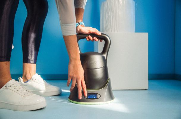 This magical high-tech kettlebell is basically six kettlebells in one