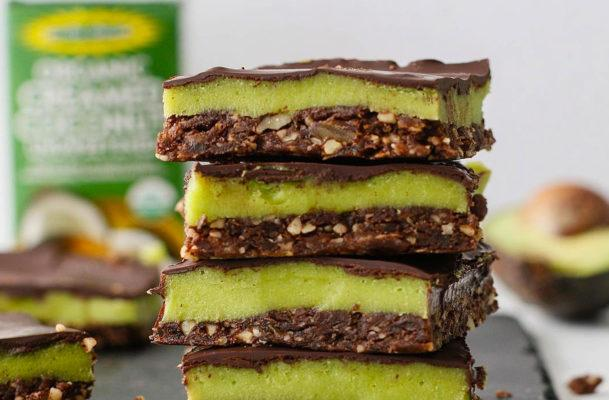 These chocolate avocado bars are the savory-sweet treat you need in your life