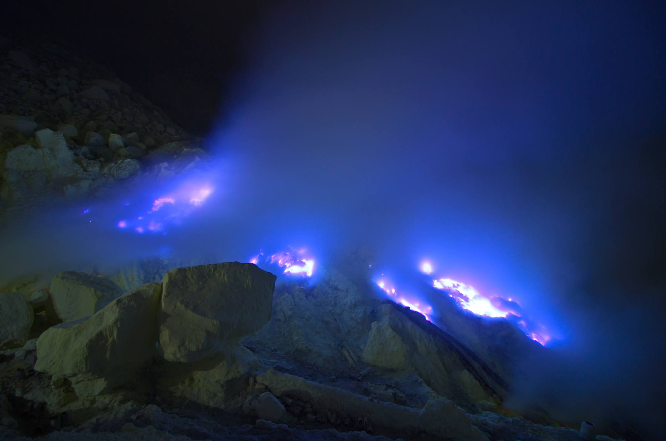Thumbnail for There's a blue-fire volcano in Indonesia—and we have the photos to prove it