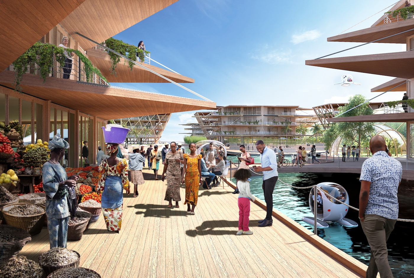 The UN unveils a floating city to save us when Water World happens IRL