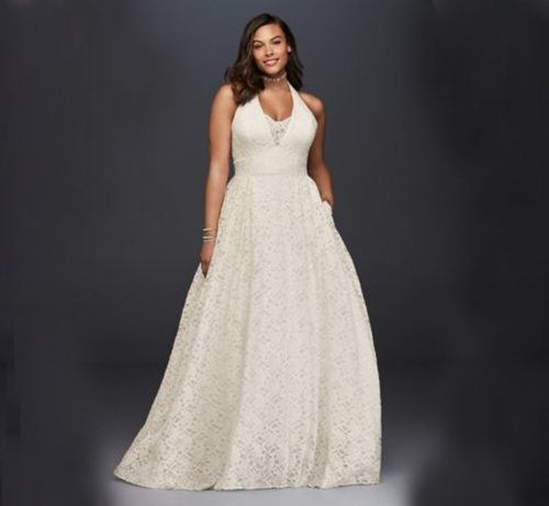 eee98a7218245 Thumbnail for Walk down the aisle with confidence in one of these  size-inclusive wedding. Buy Now