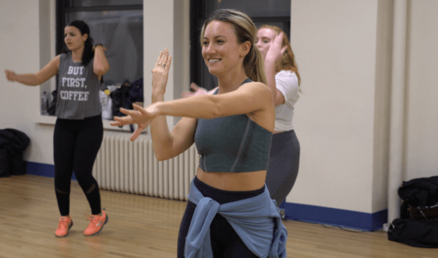 Doing 3 dance cardio workouts in a row is just like a night in the club—right?