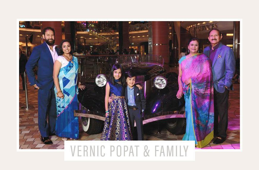 caring for in-laws, Vernic Popat pictured with her husband, two children, and mother- and father-in-law