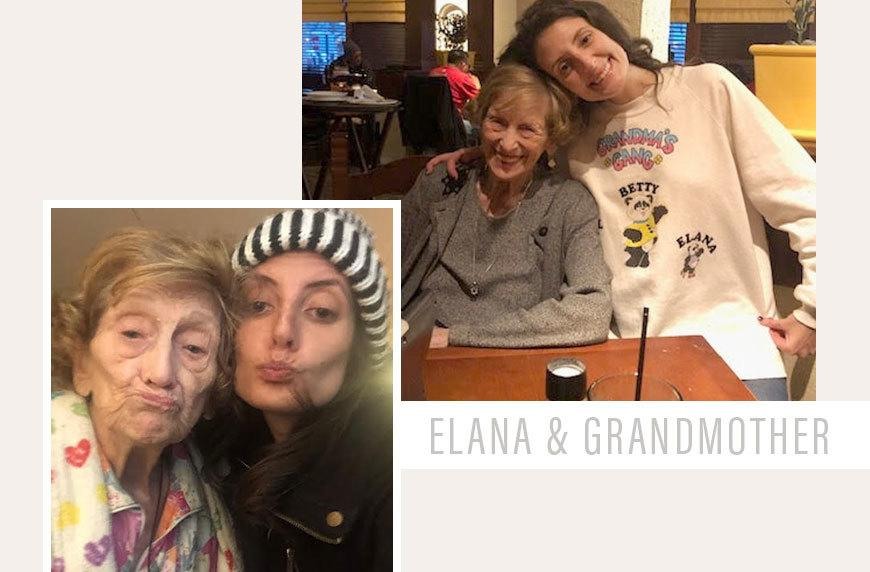 Elana Cohen, pictured with her grandmother