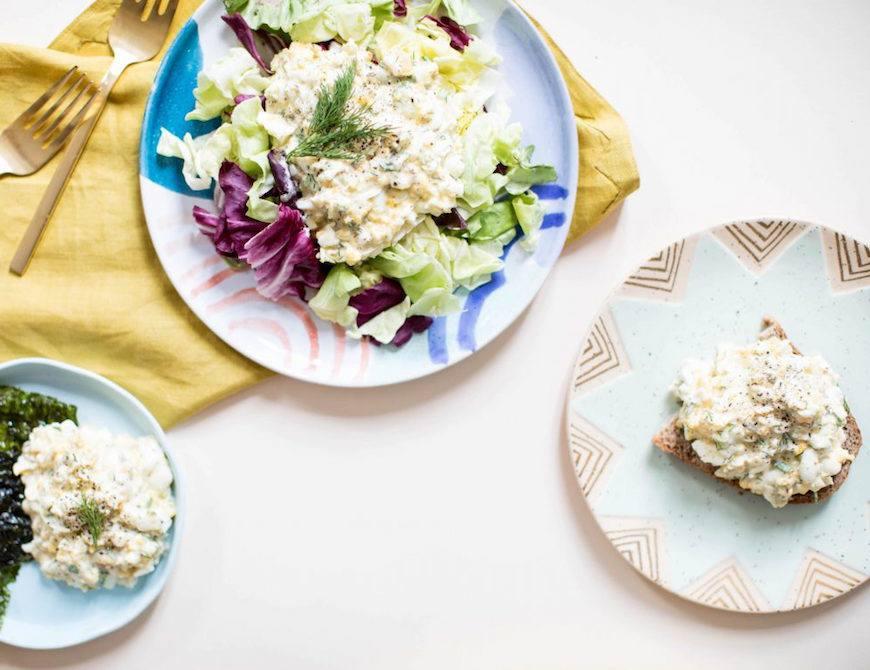 low mayo egg salad recipe