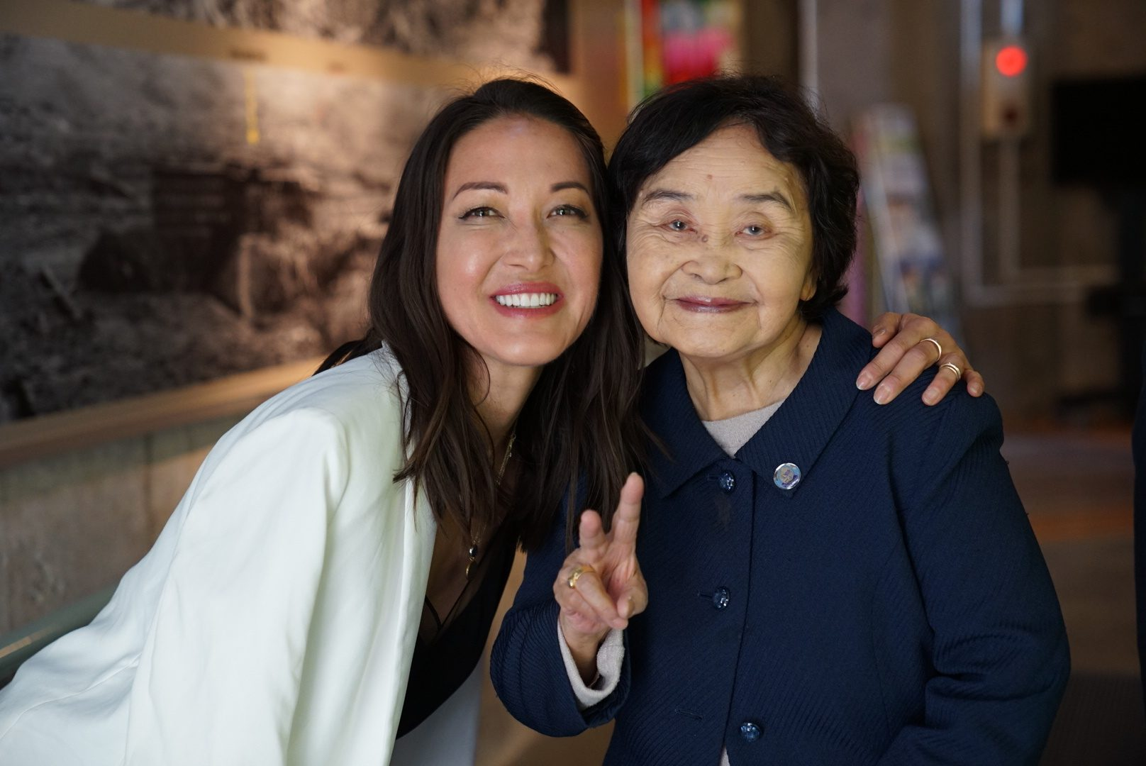 Candice and a survivor of the Nagasaki bombing. Photo: Courtesy of Candice Kumai