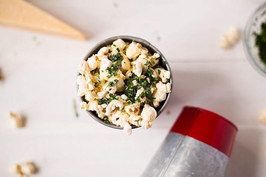 healthy salty popcorn