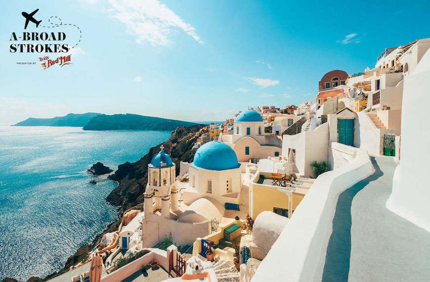 Why the most magical way to see a Greek Island is to run to the top of it