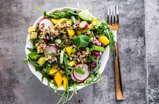 The salad of the summer is quinoa and arugula, according to GrubHub