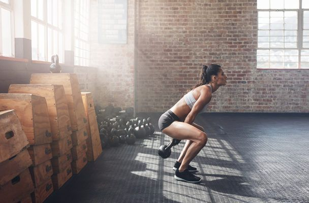 Kettlebell swings should come from your hips—not your arms