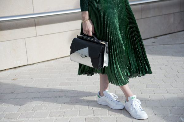 7 midi skirt and sneaker pairings that'll bring the comfy-cool vibes all summer long