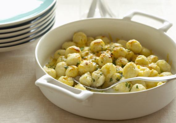 The air fryer makes the cloudiest, crunchiest cauliflower gnocchi *ever*