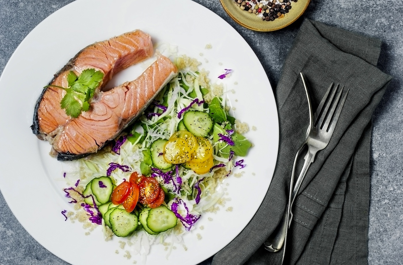 Here's what a healthy plate looks like on the Mediterranean diet